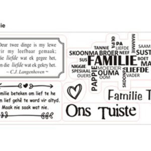 Familie Clear Stamp Set