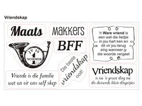 Vriendskap Clear Stamp Set