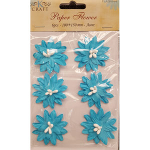 Paper Flower Turquoise Aster