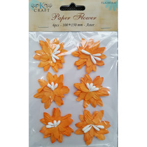Paper Flower Orange Aster