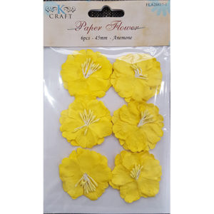 Paper Flower yellow Anemone