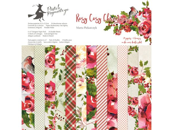 Rosy Cosy Christmas 6x6 Paper Pad