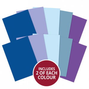 A4 Cardstock x 10 Sheets - Blues