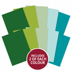A4 Cardstock x 10 Sheets - Greens