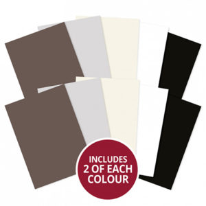 A4 Cardstock x 10 Sheets - Monochromes