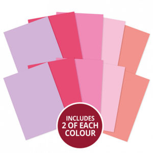 A4 Cardstock x 10 Sheets - Pinks