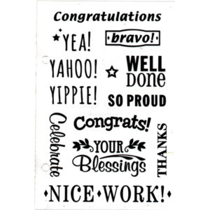 Congratulations Clear Stamp Set